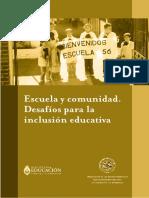 Escuela y comunidad. Desafios para la inclusión educativa