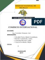 Operatividad y Legislación Aduanera Informe