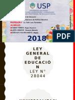 Ley General de Educación Exposicion