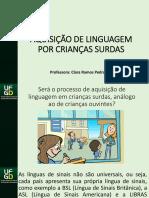 Aquisição Da Linguagem Criança Surda