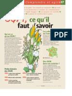 Infographie Carrefour - OGM, ce qu´il faut savoir - Page 1 - Mars 2004