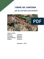 Informe de Cantera San Andres