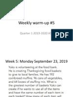 weekly warm-up5