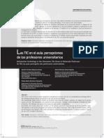 Las TIC en El Aula_percepciones de Los Profesores Universitarios