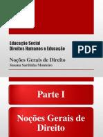 Direitos Humanos e Educação - Noções Fundamentais de Direito