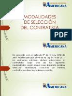 4. Contratos Estatales - Modalidades de Seleccion Del Contratista