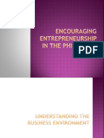 Encouraging Entrepreneurship in the Phils.