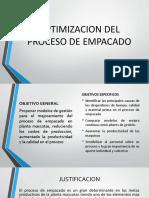 Optimización Proceso Empacado