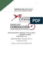 Ismael Gualsaqui, Freddy Soria. Adelantamientos