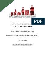 Performance Appraisal of Coca-cola