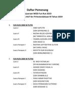 Daftar Pemenang