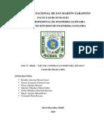 PROCESO DE SELECCIÓN DE LA LEY DE CONTRATACIONES DEL ESTADO
