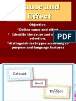 ENGLISH Q2 Cause and Effect. Cot Final