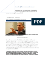 Brasil quer regulamento global sobre uso de armas autônomas