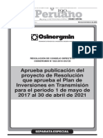 Plan de Inversiones en Transmisión