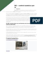 Investigacion acerca de un cnc y sus componentes y sus funciones