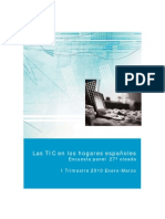 Las TIC en los hogares españoles. Encuesta panel 27º oleada ENERO-MARZO10 (Ministerio de Industria. Plan avanza 2)