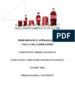 PERFORMANCE APPRAISAL OF coca-cola.docx