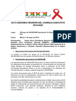 Acta 2da Reunion CE REDBOL 7 May 2019