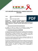 Acta 2da Reunion CE REDBOL 7 May 2019