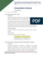 Especificaciones Técnicas Estadio
