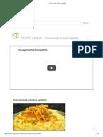 Homemade Cheese Spätzle