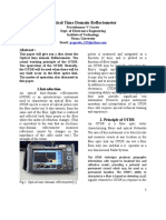Optical Time Domain Reflectometer Report