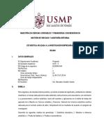 Silabo - Estadística Aplicada a La Investigación - Gestión de Riesgos y Auditoría Integral