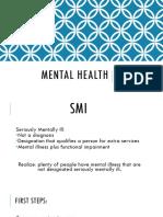 Homicide Mental Health