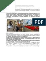 Costumbres y tradiciones 8 municipios de Baja Verapaz