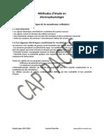 Méthode d'étude électrophysiologique