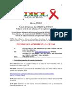 Informe Nro 3 Abril a Agosto 2019, Gestion 2018 a 2020