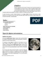 Objeto Astronómico - Wikipedia, La Enciclopedia Libre