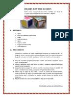 Elaboracion de un dado de carton