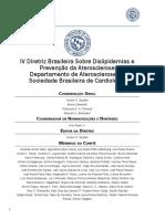 IV Diretriz Brasileira sobre Dislipidemias e Prevenção da Aterosclerose