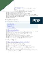 General Questions Principal