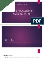Civpro Report Rule 43