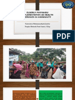 Elderly Posyandu Implementation as Health Services in Community
