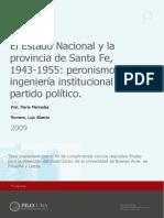 Prol, El Estado Nacional y la provincia de Santa Fe, 1943-1955.