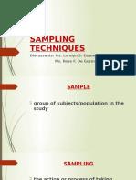 Sampling Techniques