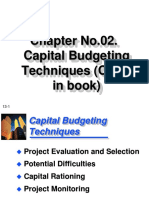2-Capital Budgeting Techniques