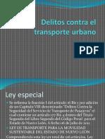 delitos contra el transporte urbano