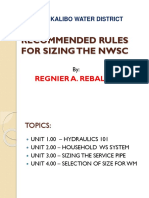 MKWD - Recommended Rules for Sizing the NWSC
