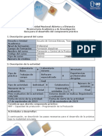 Guía Para El Desarrollo Del Componente Práctico - Fase 4. Realizar El Componente Práctico Modalidad in Situ o Simulada