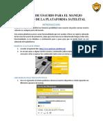 Manual de Usaurio Para El Manejo Adecuado de La Plataforma Satelital