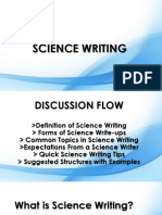 Science Writing (2)