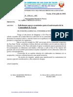 Certificado de Posecion de Eugenia Arias