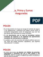 S7-Póliza, Primas y Sumas Aseguradas