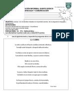 Lenguaje 4Basico Diagnostico 2014