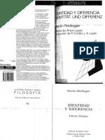 Heidegger Identidad y Diferencia